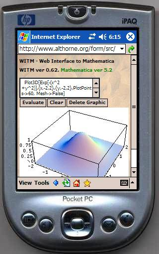 3D graph on iPAQ PDA