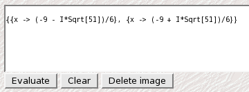 Mathematica results in web browser